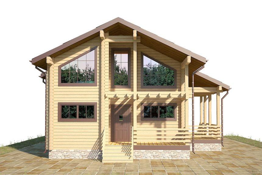 загородный дом из бруса