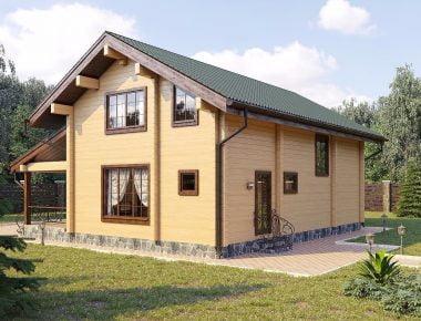 проекты домов из бруса для проживания